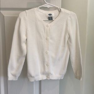 Old Navy white button sweater size 4T